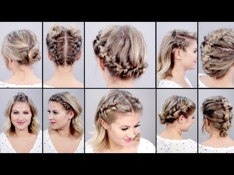 10 SUPER EASY FAUX BRAIDED SHORT HAIRSTYLES: Topsy Tail Edition