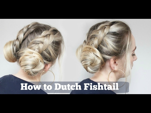 Bun Hairstyle | Double Dutch Fishtail Braid into Buns hairstyle