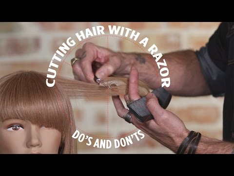 Cutting Hair With a Razor: Do's and Don'ts