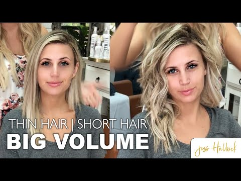 The Perfect 10 Minute Voluminous Bouncy Waves Tutorial || Short + Thin Hair || Jess Hallock