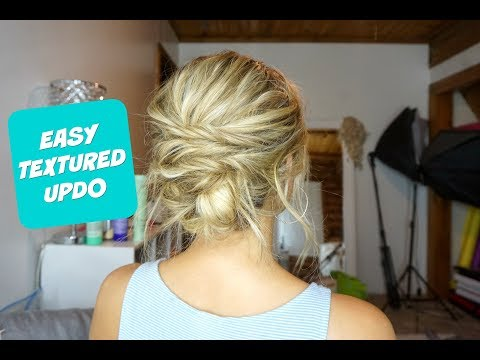 EASY TEXTURED UPDO! Hairstyle for Short, Medium, and Long Hair!