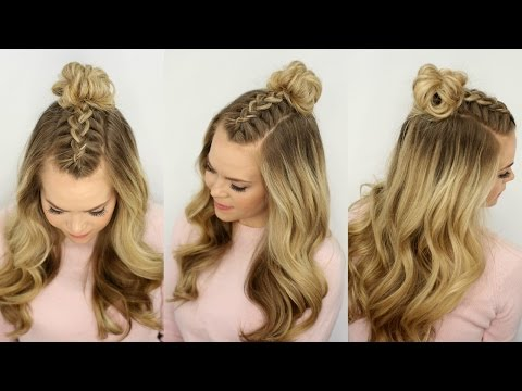Mohawk Braid Top Knot | Half Up Hairstyle | Missy Sue
