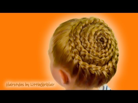 How To: Spiral (Snail) Braid. Quick and Easy hairstyle for little pricess #37