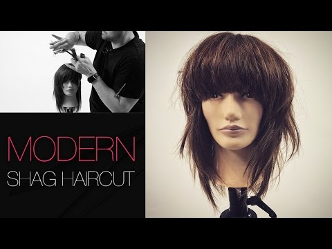 How To Cut A Modern SHAG Haircut Step by step