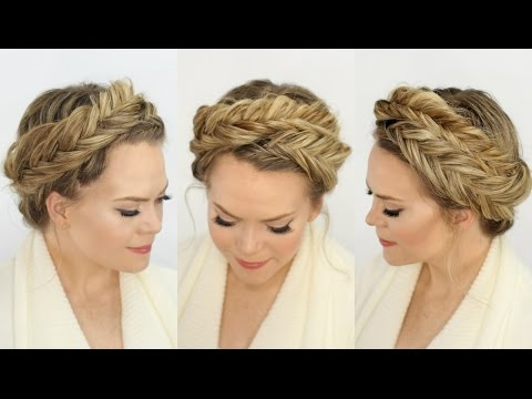 Inverted Fishtail Crown Braid | Missy Sue