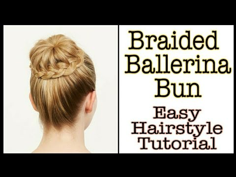 Braided Ballerina Bun | Bridal Bun | Easy Hairstyle Tutorial | Basic Hairstyle