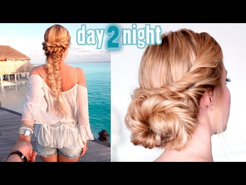 Prom/wedding/party hairstyles ★ Last minute day to night updo ★ Medium/long hair tutorial