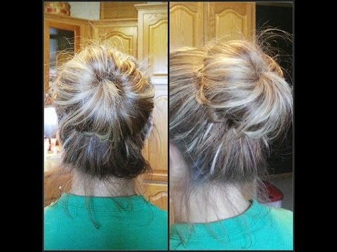 EASIEST Messy Sock Bun Hair Tutorial EVER!!!