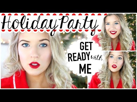 Get Ready with Me: Holiday Party: Hair, Makeup & Outfit