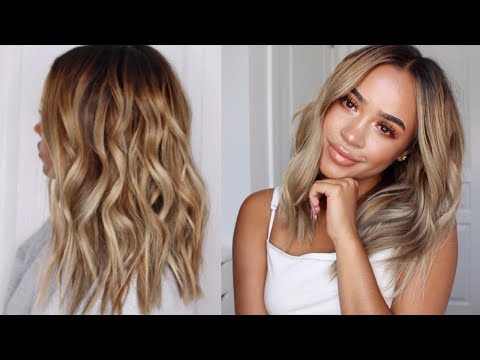 EASY AND PERFECT SUMMER BEACHY WAVES | HAIR TUTORIAL | Maria Bethany