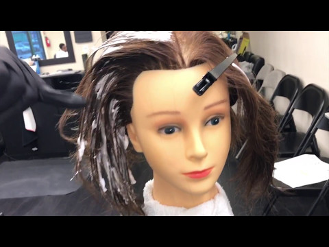 Virgin Hair Lightening and Haircolor Retouch CA State Board - The Barber Academy - 2017