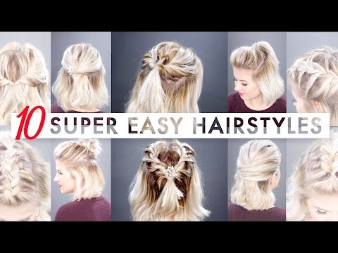 10 Easy Half Up hairstyles for SHORT HAIR Tutorial | Milabu