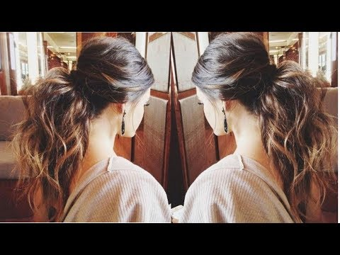 ❤How To: Messy Voluminous Ponytail Tutorial |Textured ponytail👌