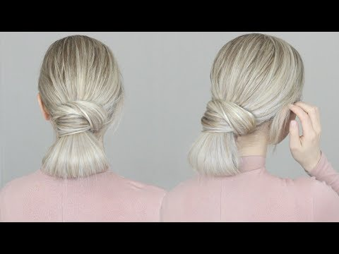HOW TO: Simple Bun Hair Tutorial | EASY