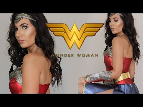 WONDER WOMAN TUTORIAL | Hair + makeup + costume | Elle Levi