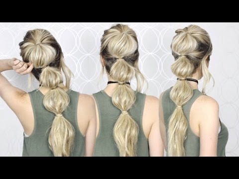 HOW TO: Easy Bubble Ponytail | MEDIUM, LONG HAIR