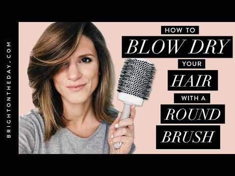 How To Blow Dry Hair With a Round Brush [Lots of Volume!]