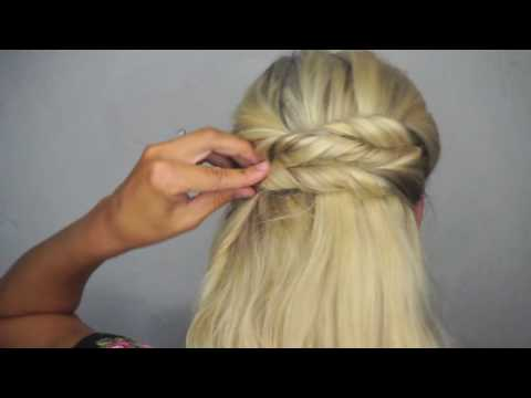 Easy Twisted Updo with Luxy Hair Extensions