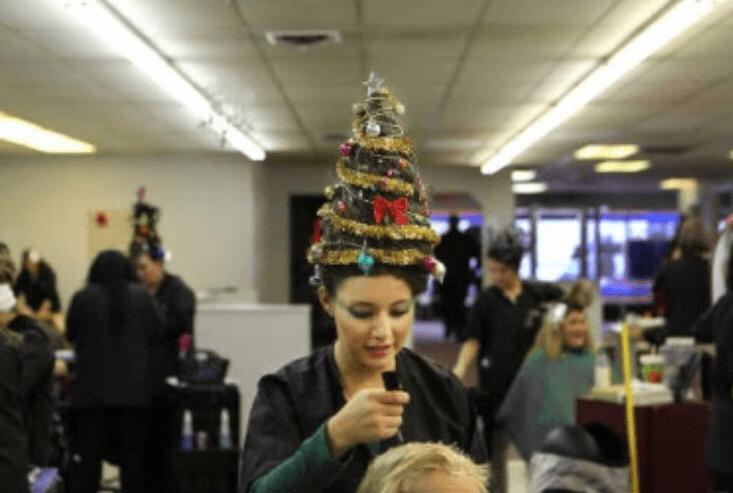 Extreme Christmas Tree Hair