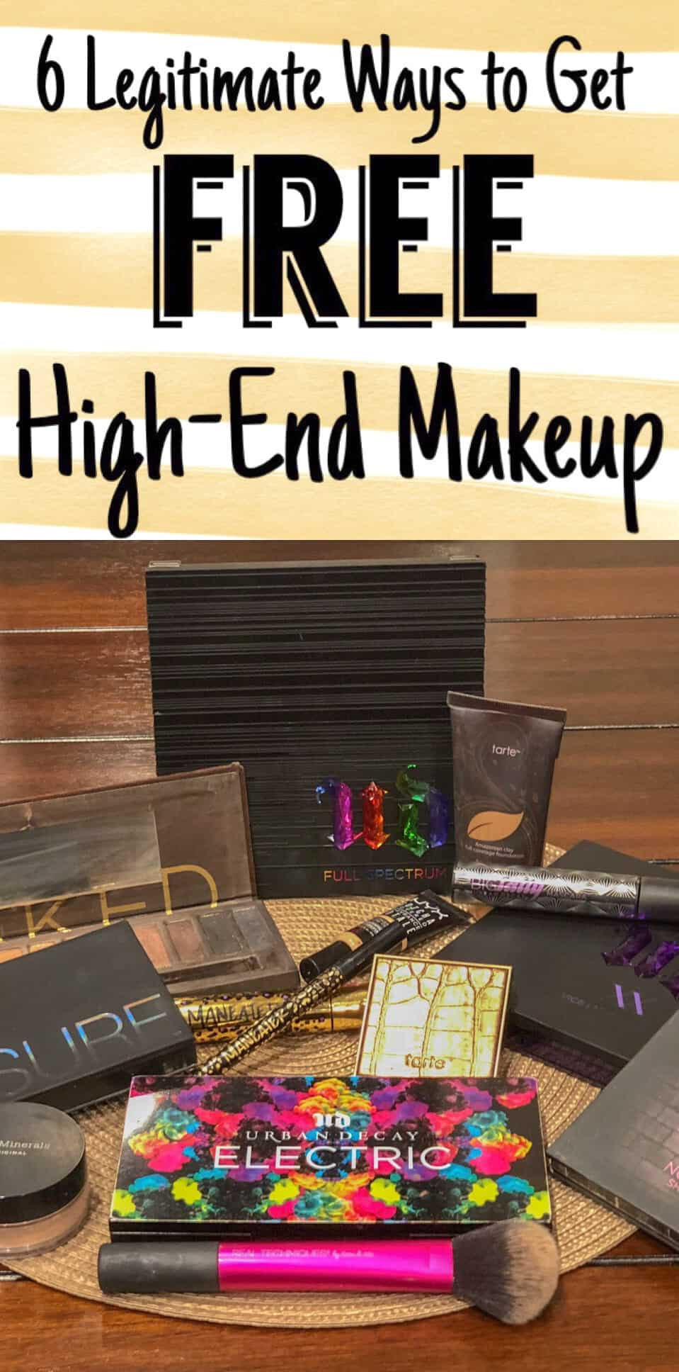 Free high-end makeup (Urban Decay, Tarte, Smashbox)