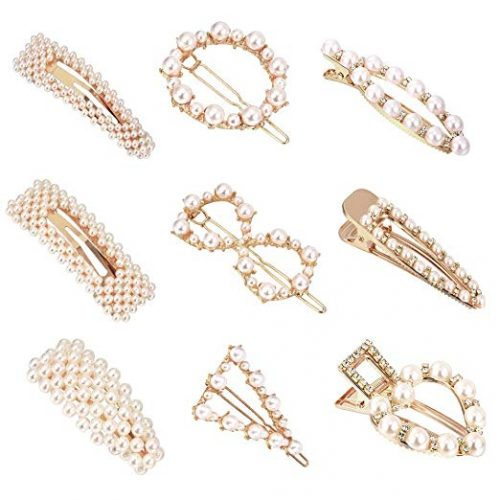 Chic pearl hair clips