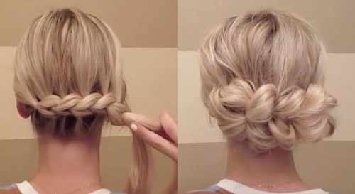Pull-Through Braid Updo | Thanksgiving hairstyles