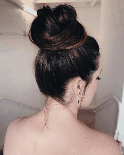 Slightly Imperfect Ballerina Bun | Thanksgiving hairstyles