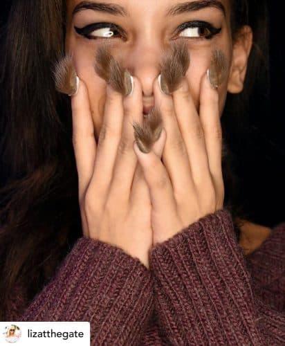 Furry nails.