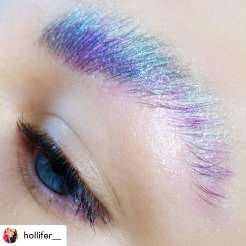 Glitter soap brows.