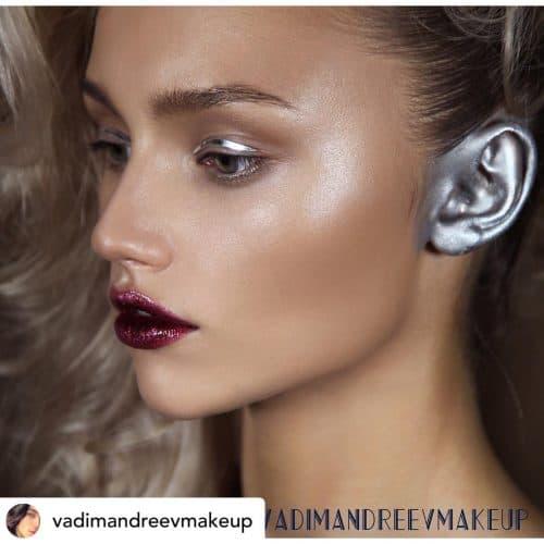 Ear makeup.